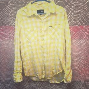Hurley button up flannel